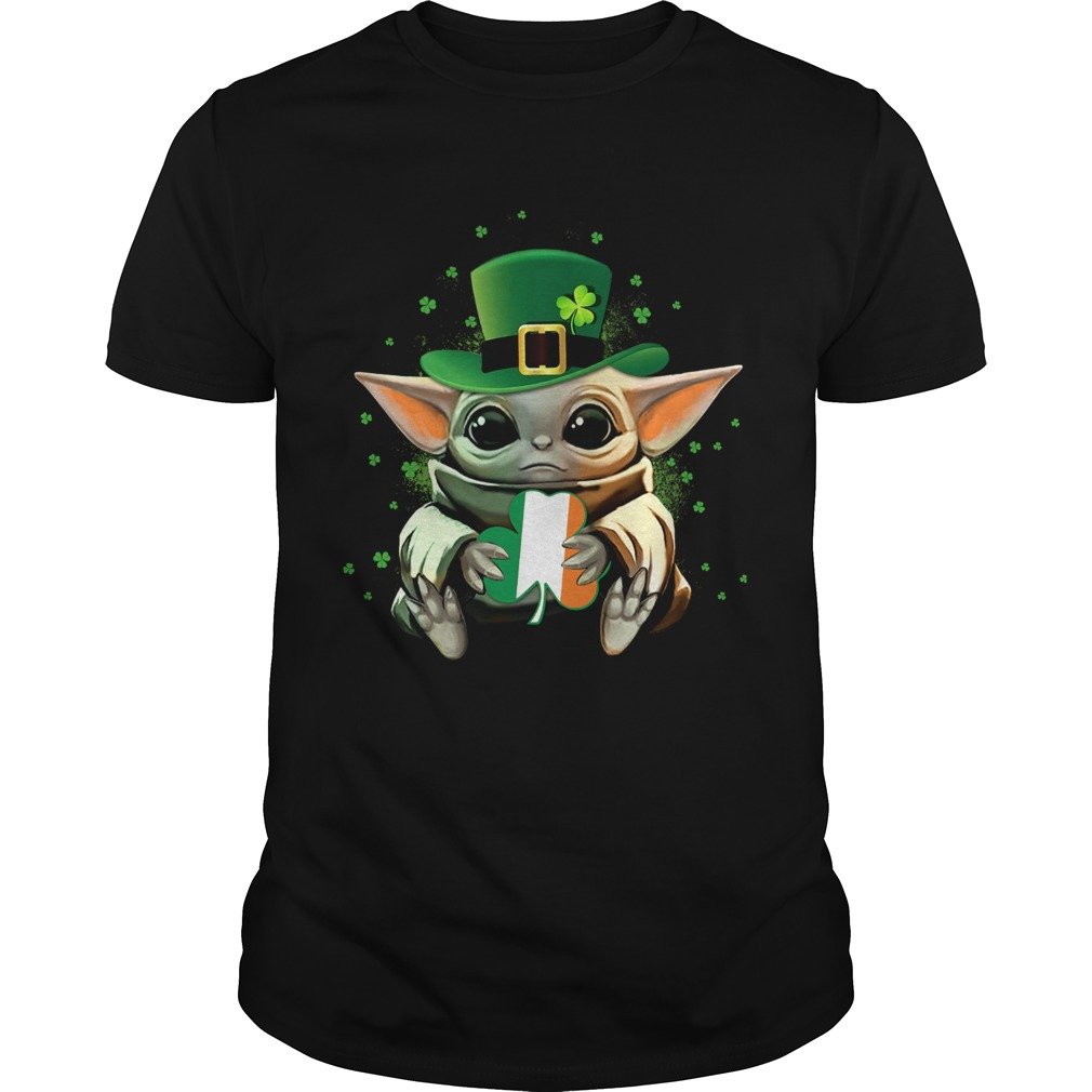 Baby Yoda Hug St Patricks Day  Unisex