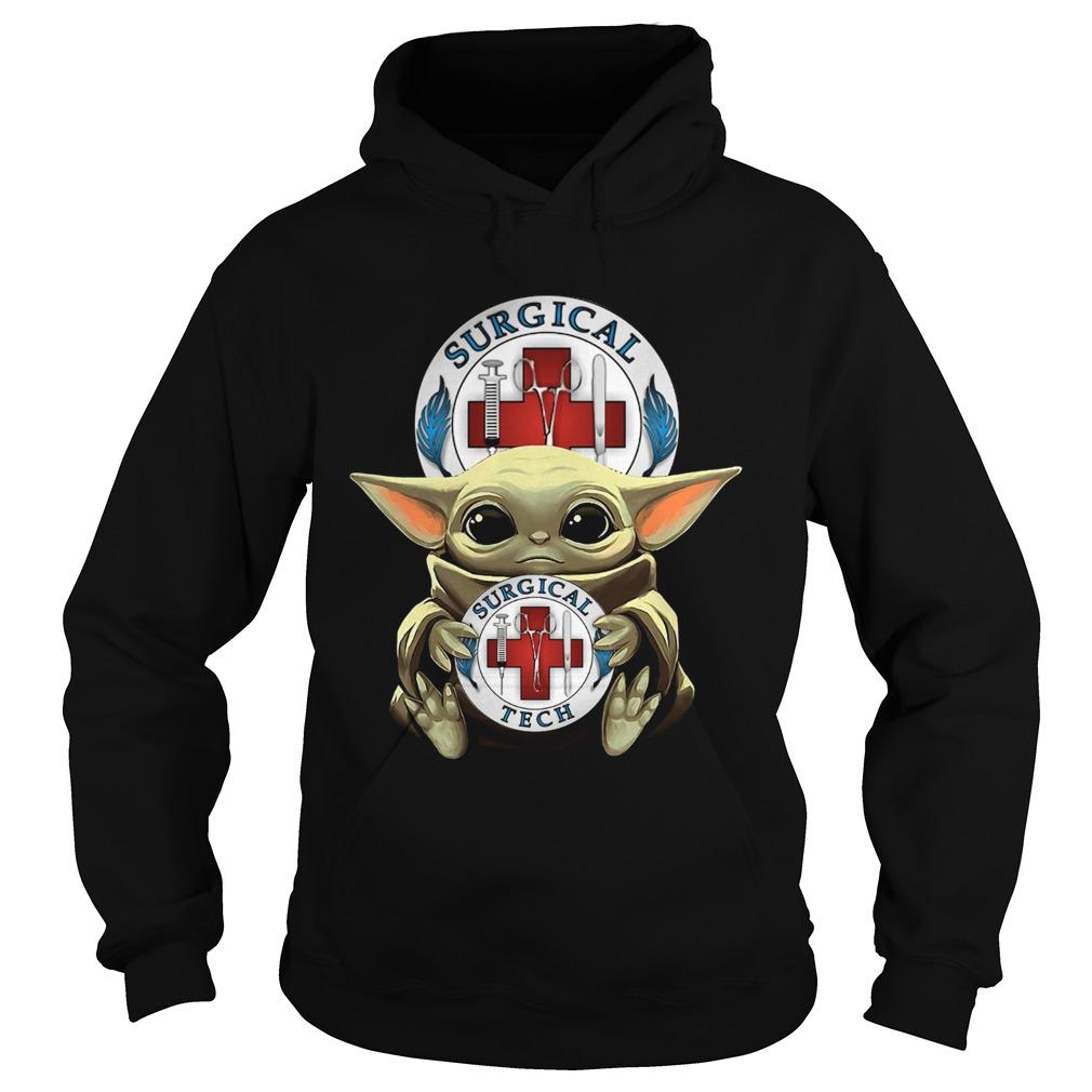 Baby Yoda Hug Surgical Tech  Hoodie