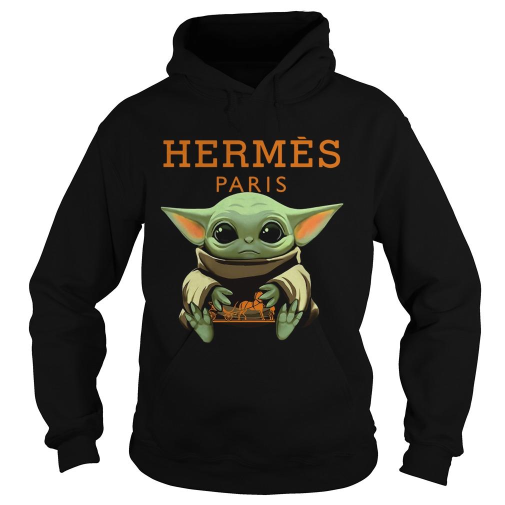 Baby Yoda Hugging Hermes Paris  Hoodie