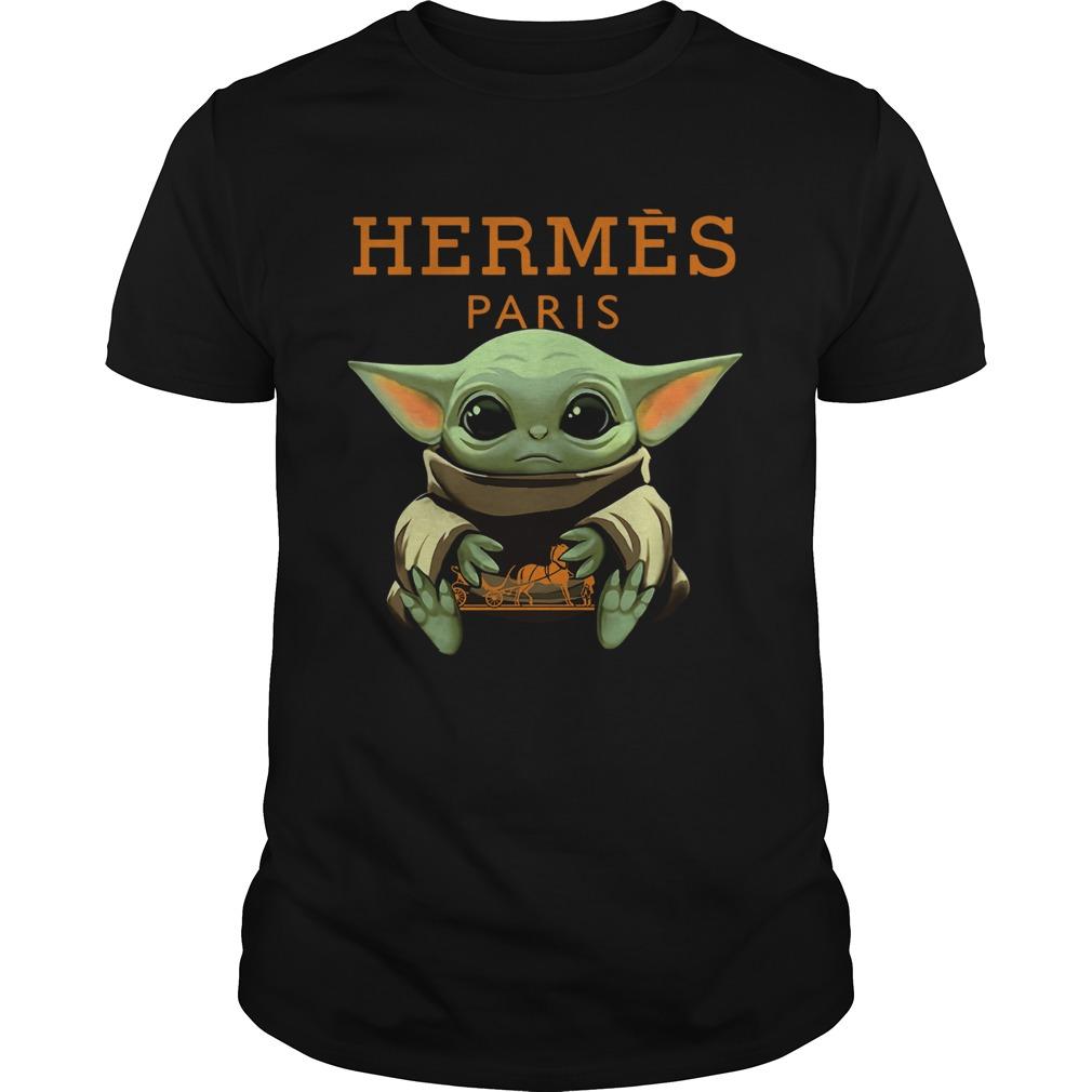 Baby Yoda Hugging Hermes Paris  Unisex