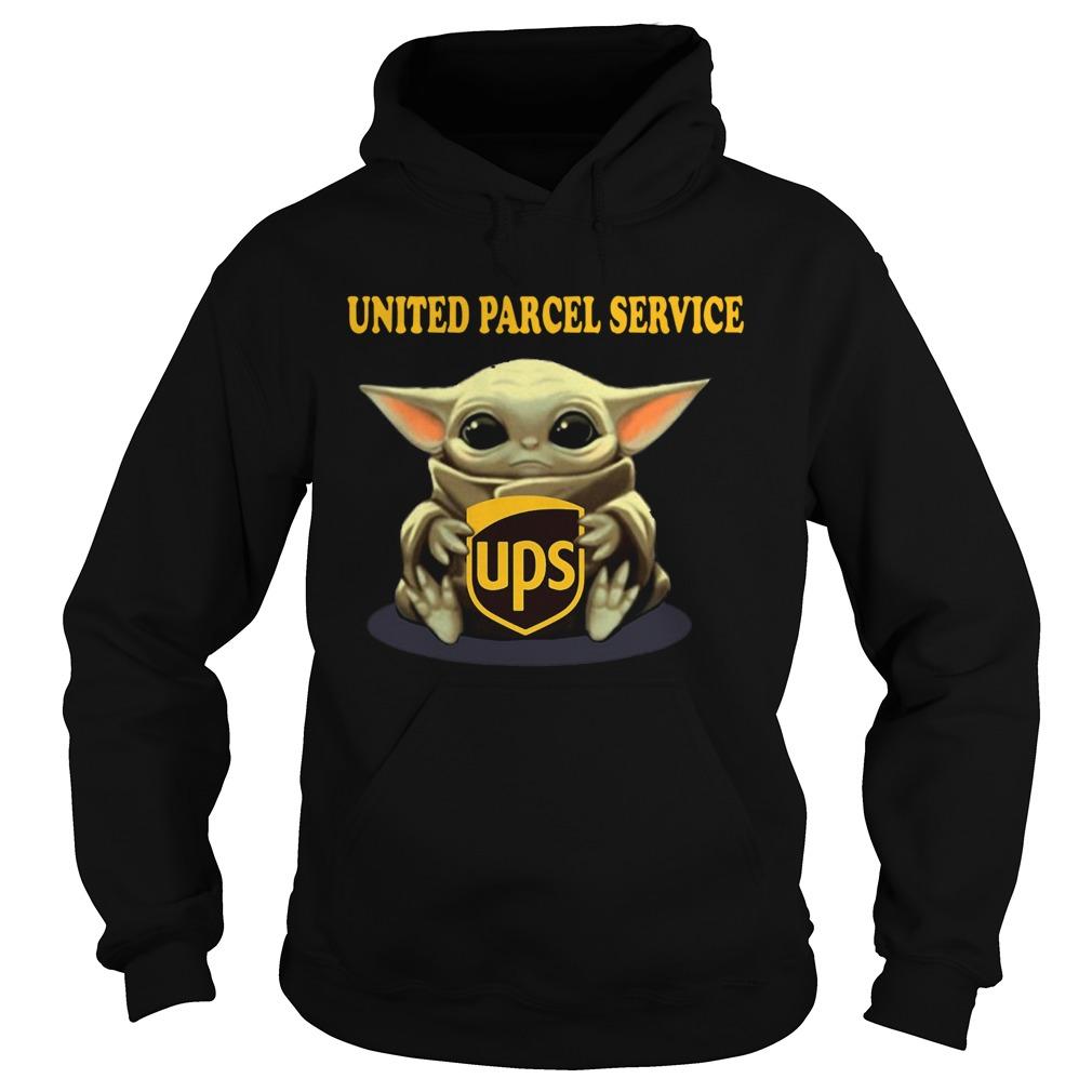Baby Yoda Hugging United Parcel Service  Hoodie