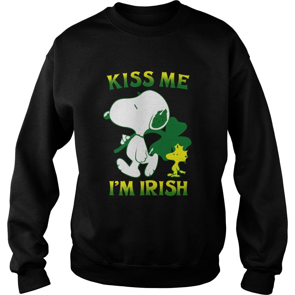 Snoopy And Woodstock Kiss Me Im Irish  Sweatshirt