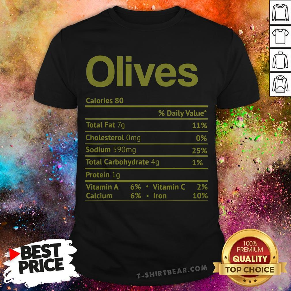 Christmas Facts 2020 Funny Olive Nutrition Facts Funny Thanksgiving Christmas Food Shirt