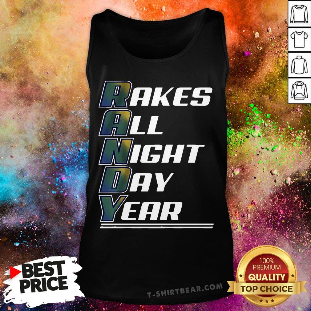 Randy Arozarena Rakes All Night Day Year Tank Top - Design By T-shirtbear.com