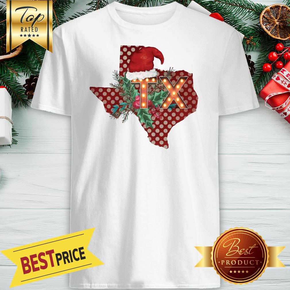 Texas Santan Christmas On Heather Shirt