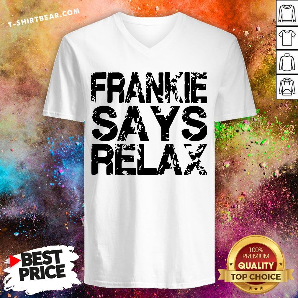 Funny Frankie Says Relax V-neck - Design By T-shirtbear.com
