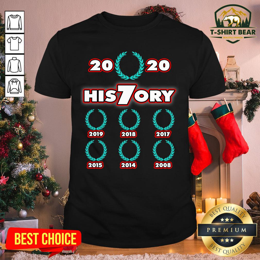 Official 2020 His7ory Times World Champion Shirt- Design by T-shirtBear.com