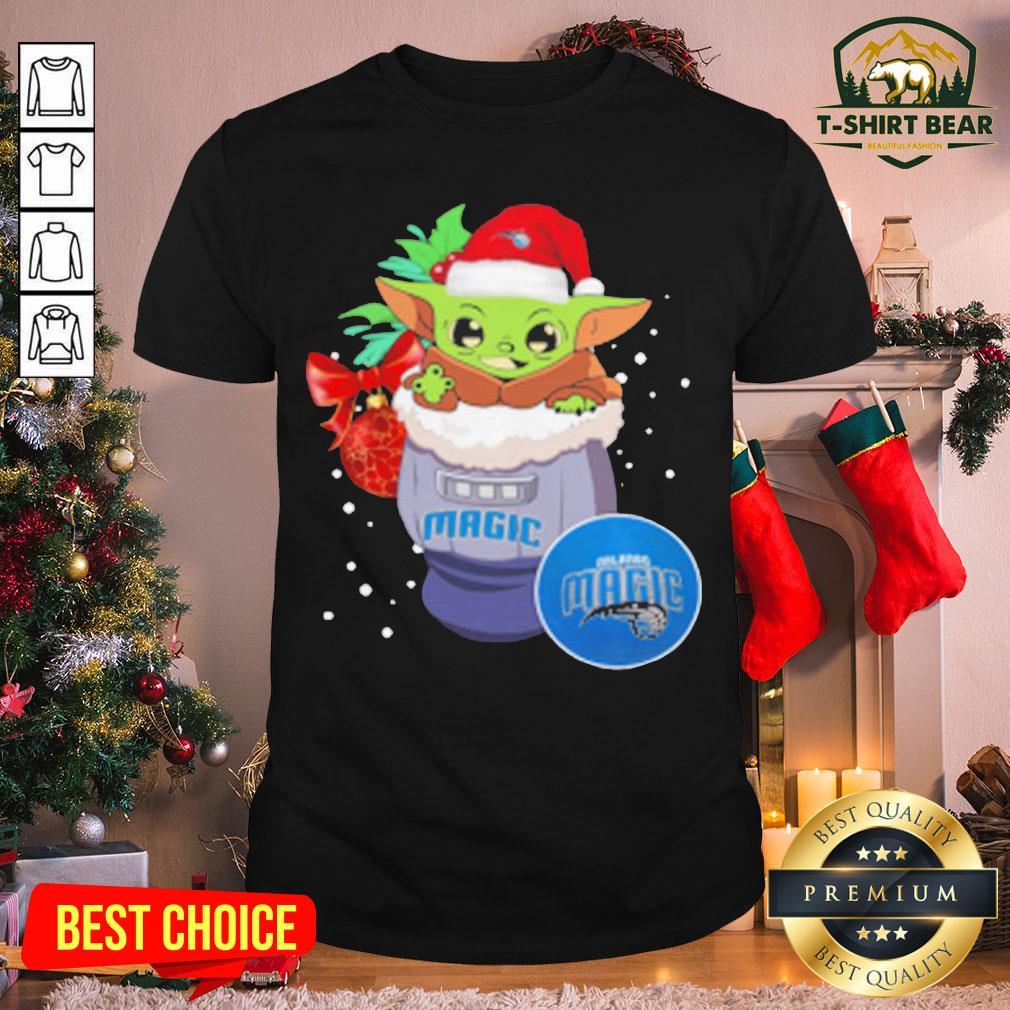 Good Orlando Magic Christmas Baby Yoda Star Wars NBA Shirt - Design by T-shirtBear.com