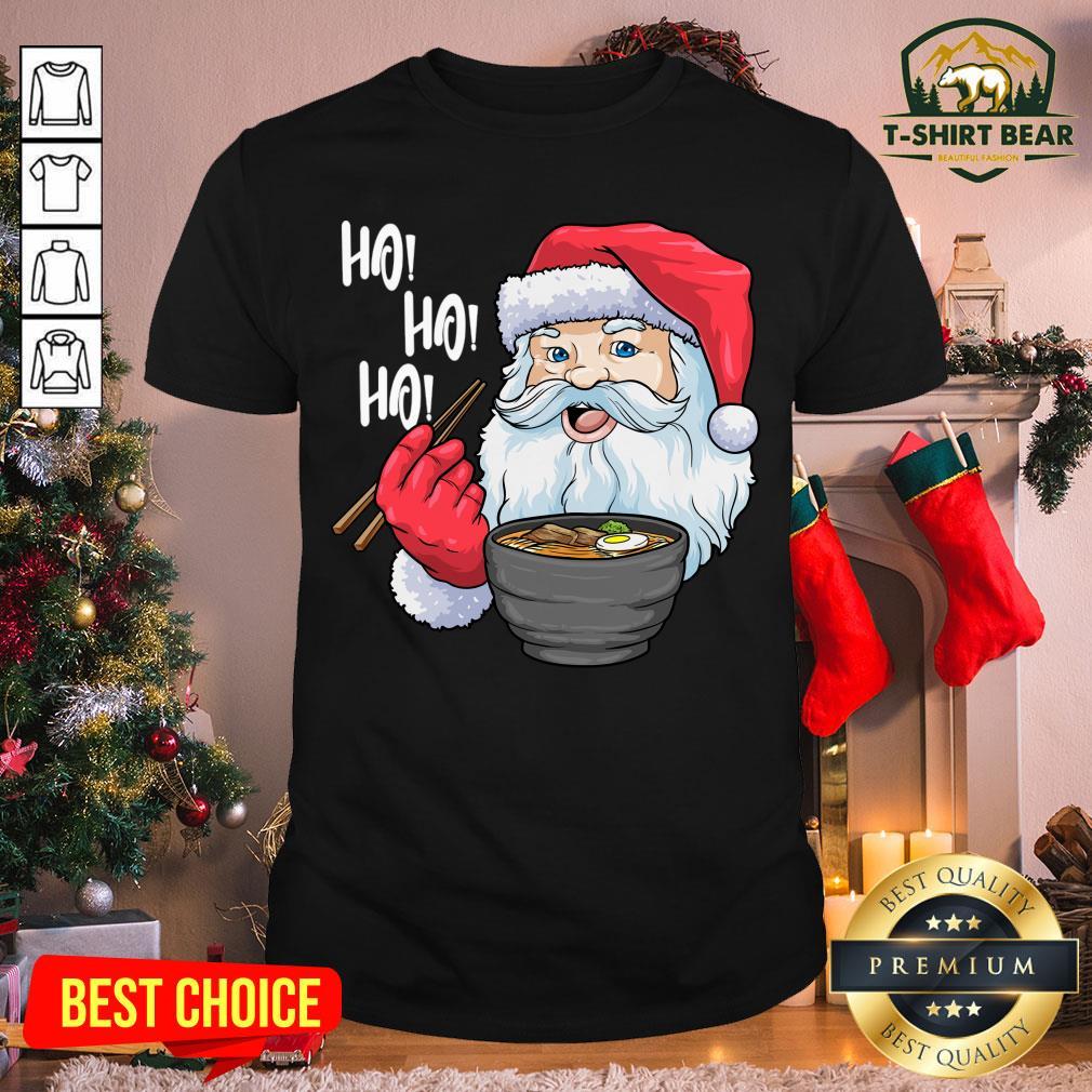 Original Ho Ho Ho Santa Eat Ramen Christmas Shirt - Design by T-shirtBear.com