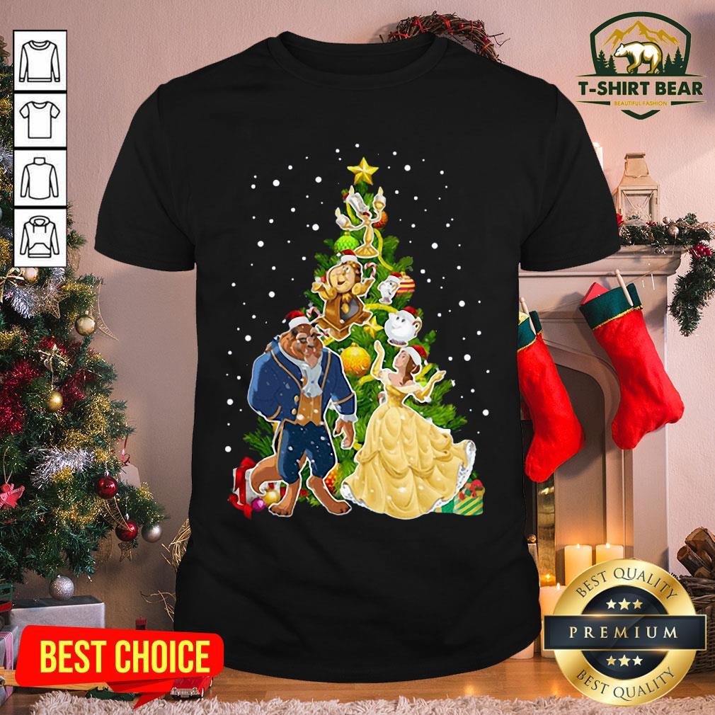 Grateful Beauty And The Beast Christmas Tree Shirt - Design by T-shirtBear.com