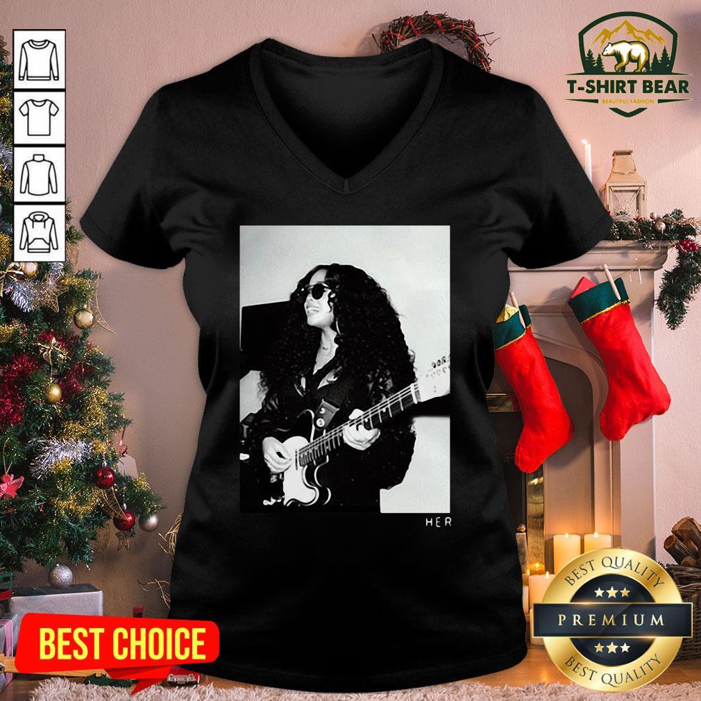 Original H.E.R. Girls With Guitars V-neck - Design by T-shirtBear.com