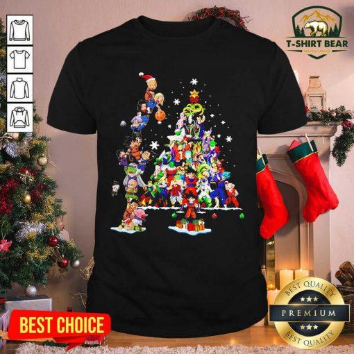 Dragon Ball Z Character And Christmas Tree 2020 Shirt - Design by T-shirtbear.com