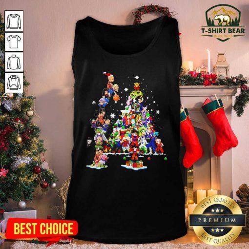 Dragon Ball Z Character And Christmas Tree 2020 Tank Top - Design by T-shirtbear.com
