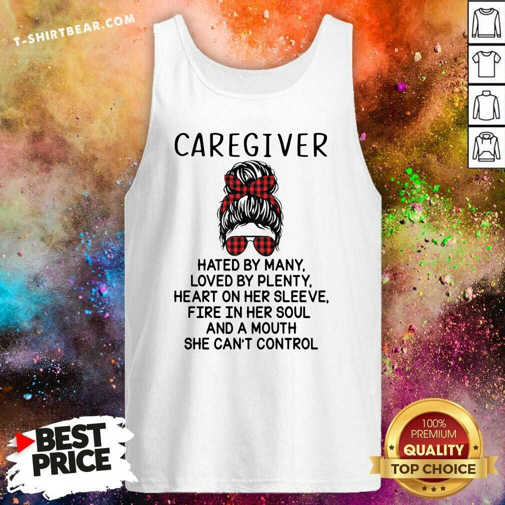 Depressed Caregiver And A Mouth 5 She Cant Control Tank Top - Design by T-shirtbear.com