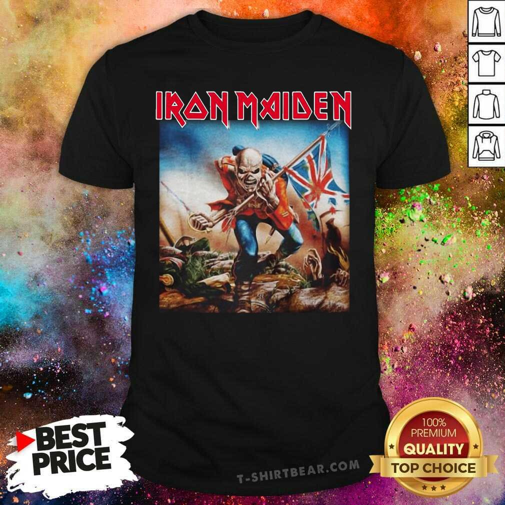Intrigued Iron Maiden 22 English Flag Shirt - Design by T-shirtbear.com