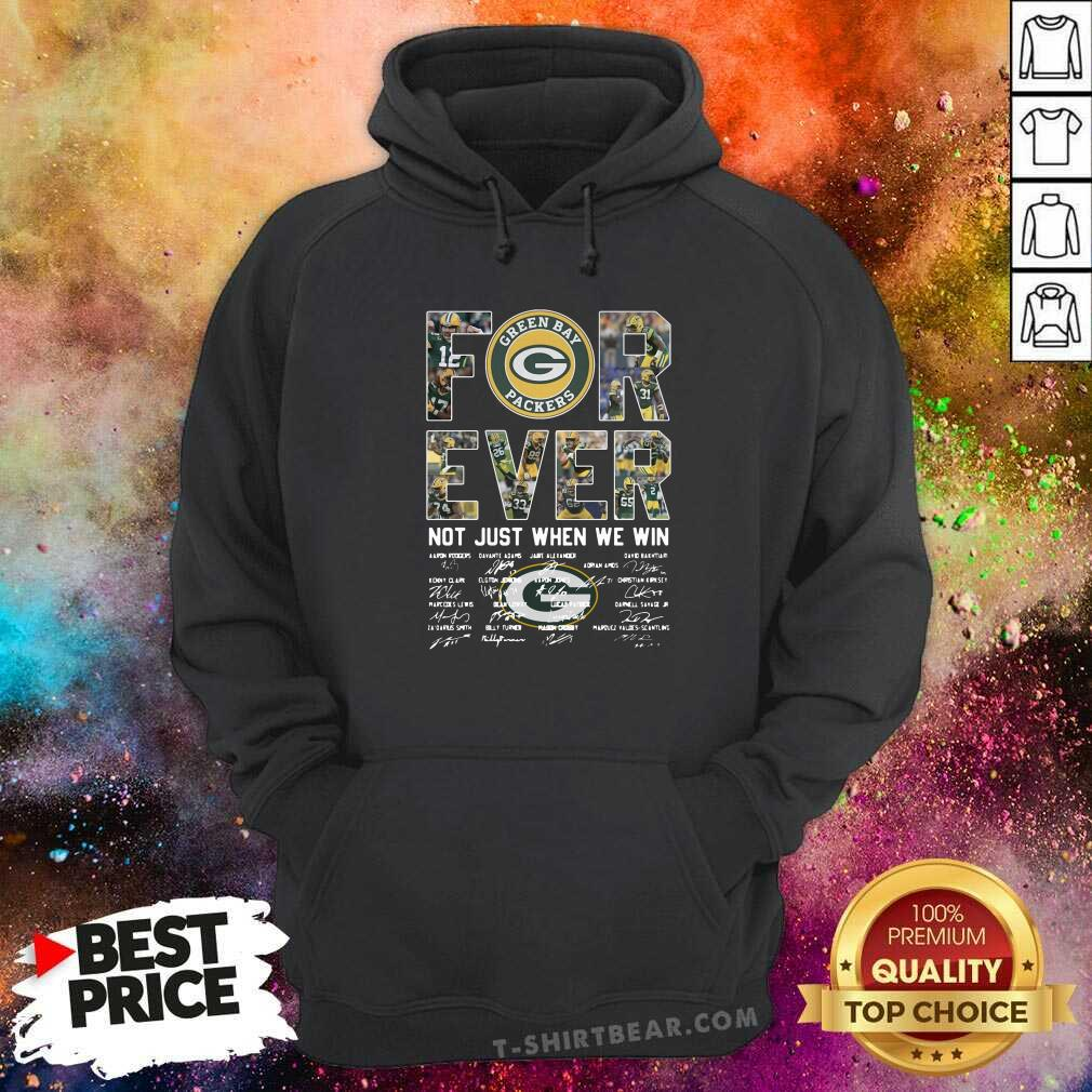 Overjoyed Green Bay Packers Forever 1 Signatures Hoodie - Design by T-shirtbear.com