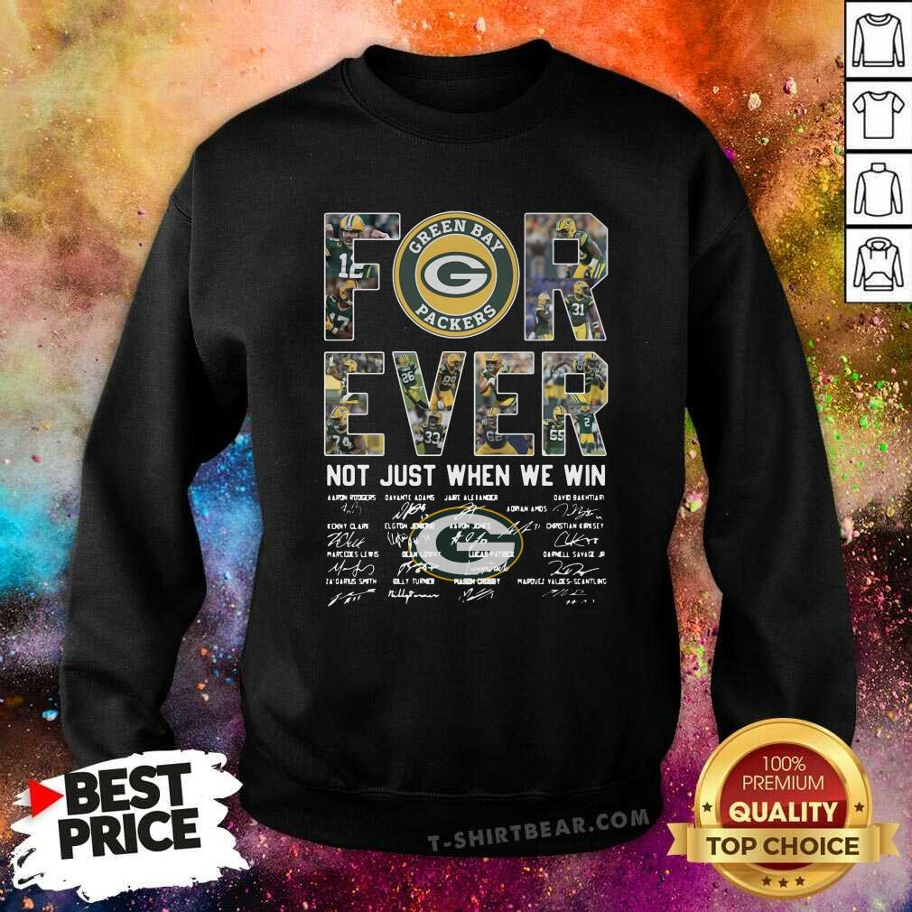 Overjoyed Green Bay Packers Forever 1 Signatures Sweatshirt - Design by T-shirtbear.com