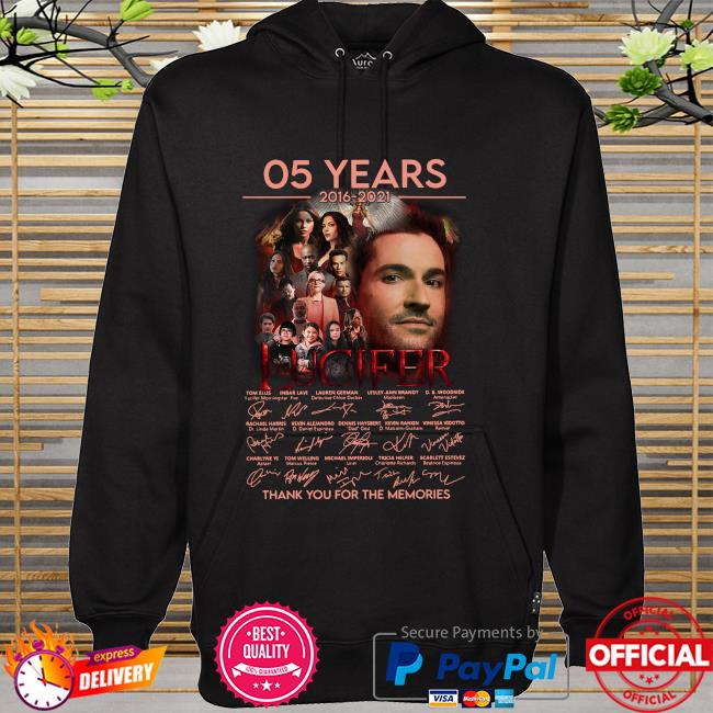 05 years Lucifer thank you for the memories signatures hoodie