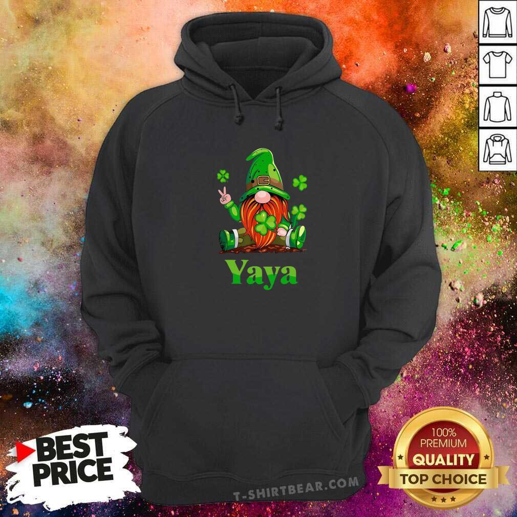Premium St Patricks Day Gnome Yaya Hoodie - Design by T-shirtbear.com