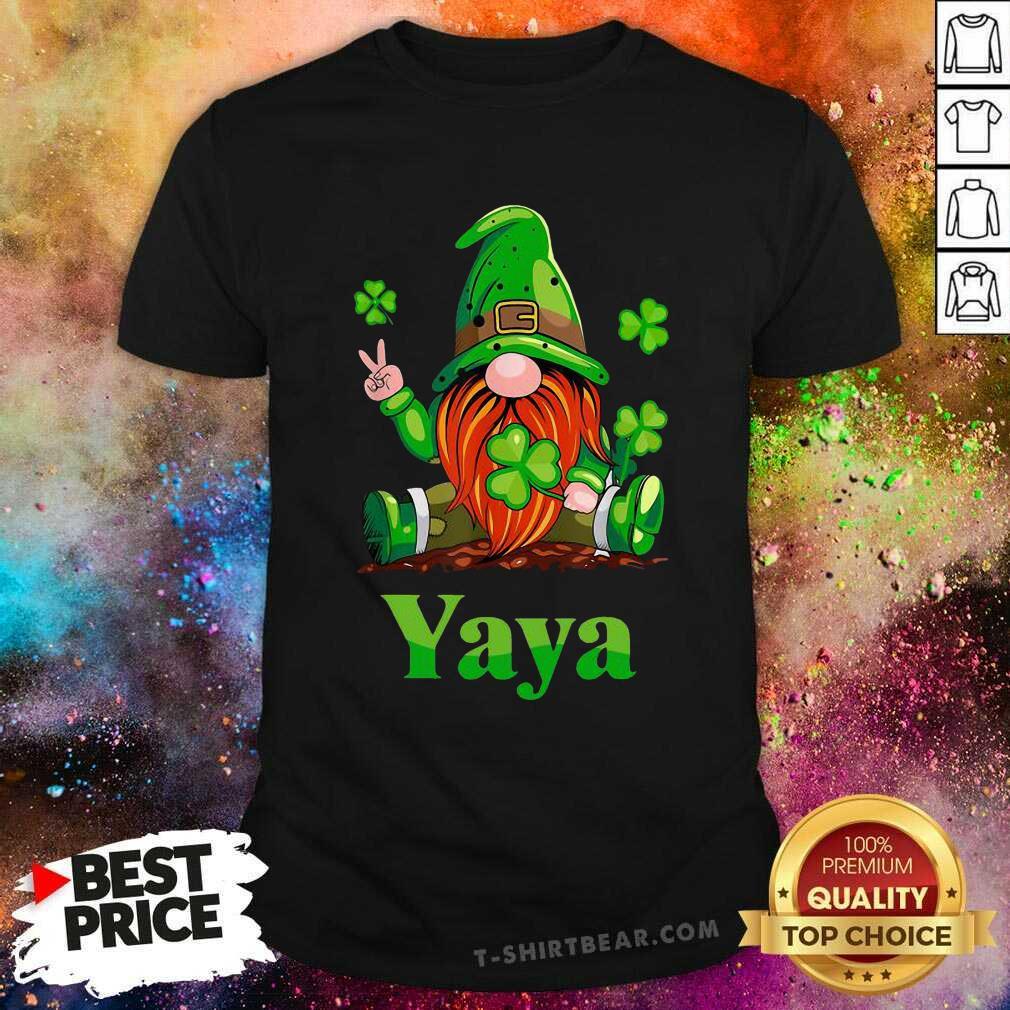 Premium St Patricks Day Gnome Yaya Shirt - Design by T-shirtbear.com