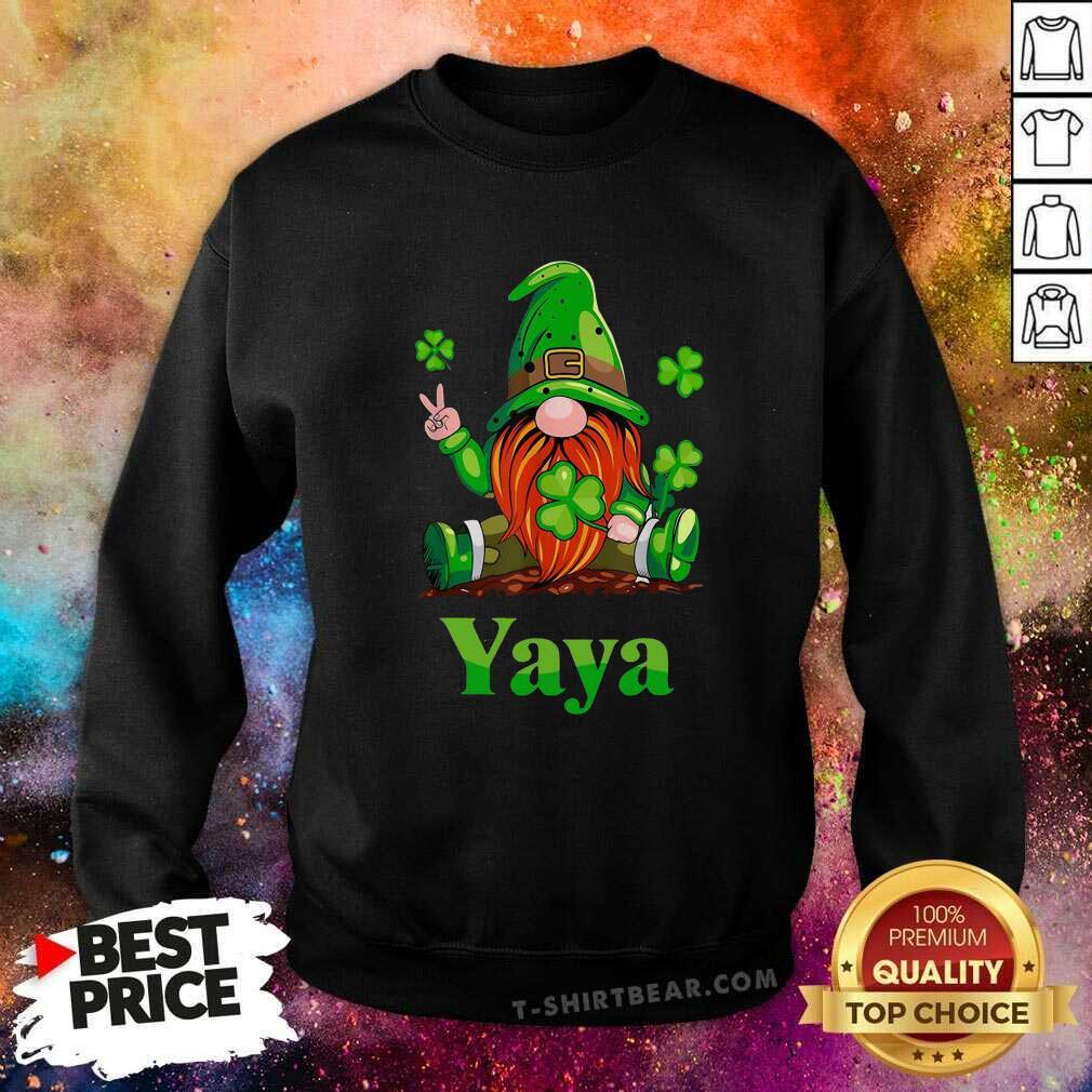 Premium St Patricks Day Gnome Yaya Sweatshirt - Design by T-shirtbear.com