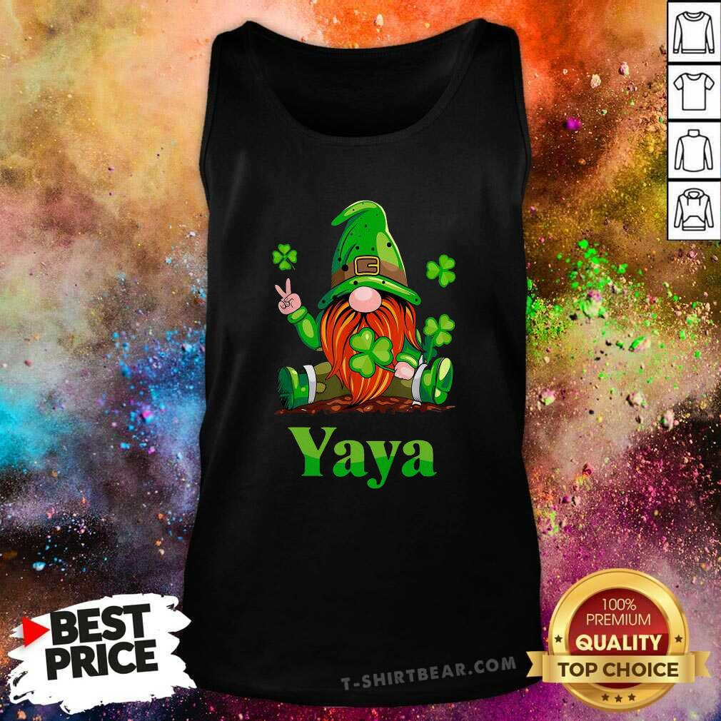 Premium St Patricks Day Gnome Yaya Tank Top - Design by T-shirtbear.com
