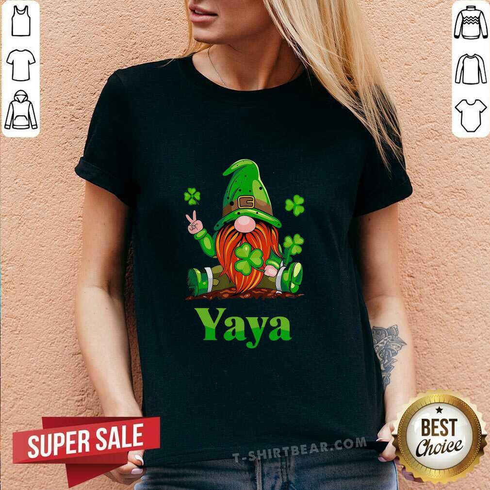 Premium St Patricks Day Gnome Yaya V-neck - Design by T-shirtbear.com