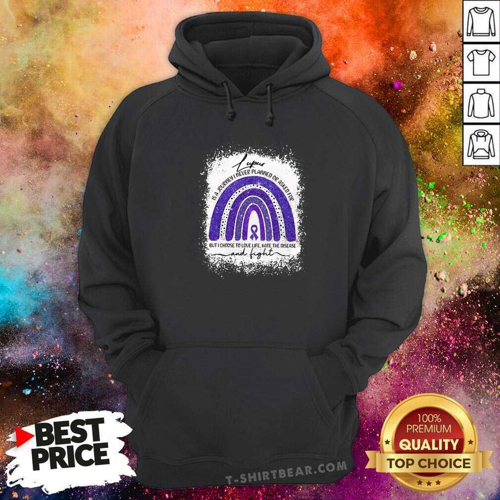 Cool Lupus Awareness Autism Rainbow Hoodie - Design by T-shirtbear.com
