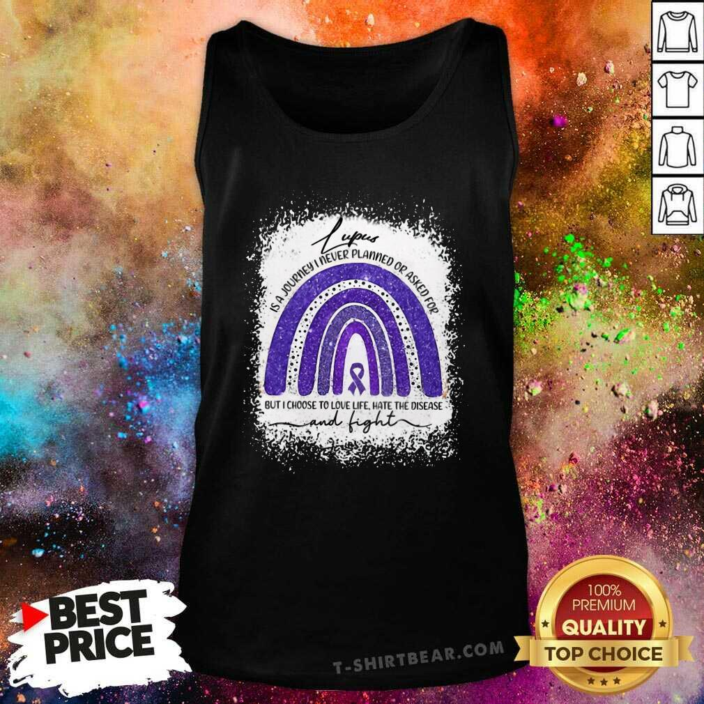 Cool Lupus Awareness Autism Rainbow Tank Top - Design by T-shirtbear.com