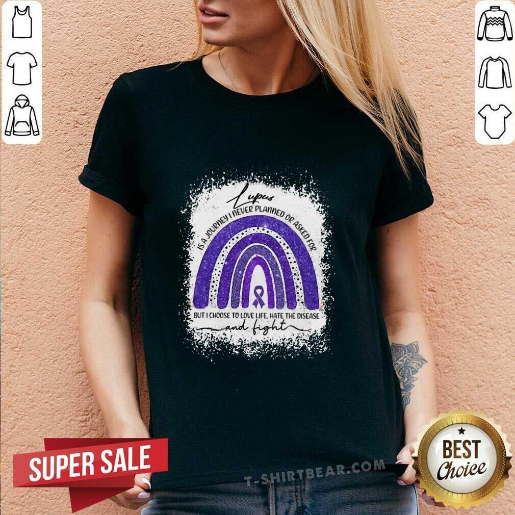Cool Lupus Awareness Autism Rainbow V-neck - Design by T-shirtbear.com