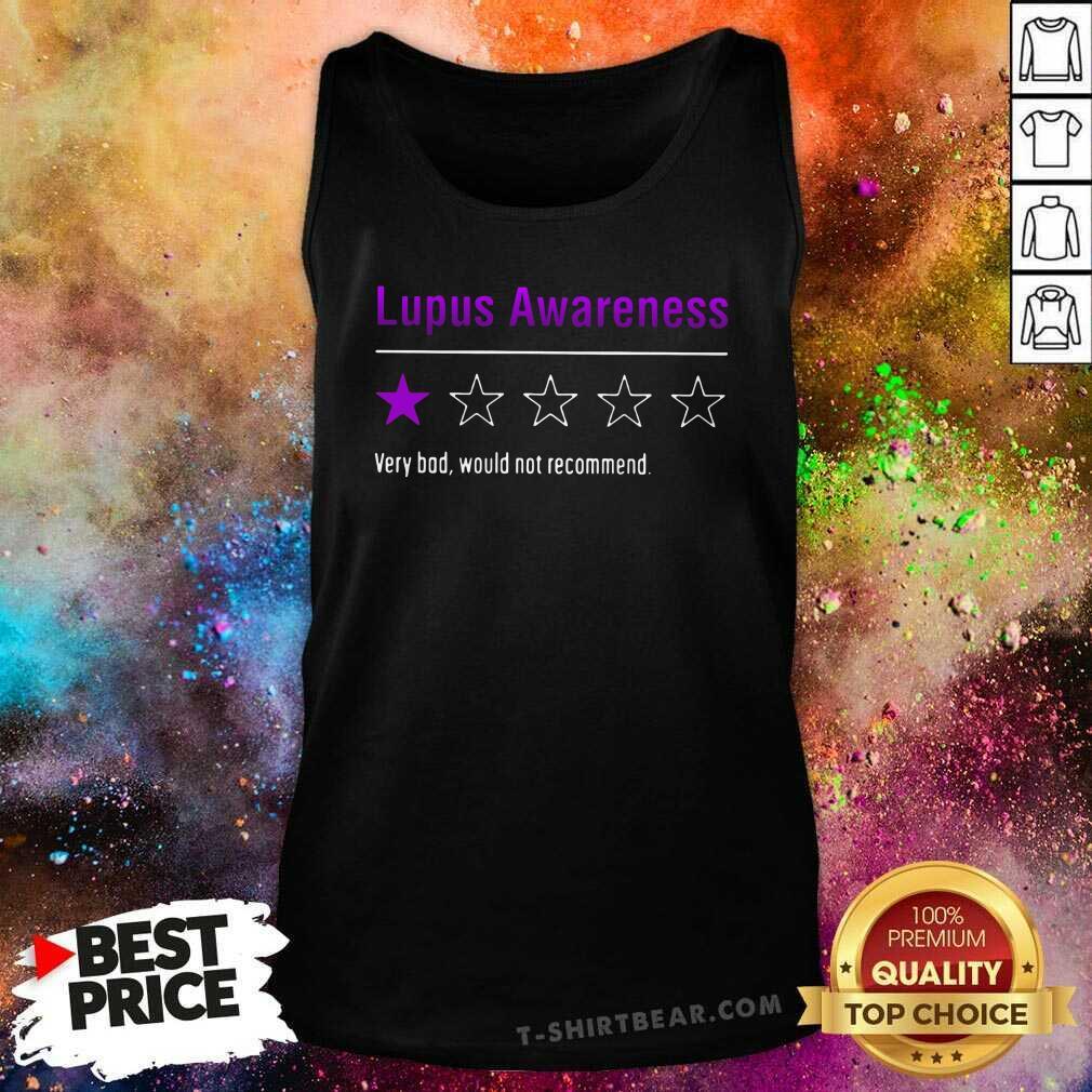 Original Lupus Awareness Very Bad Tank Top - Design by T-shirtbear.com