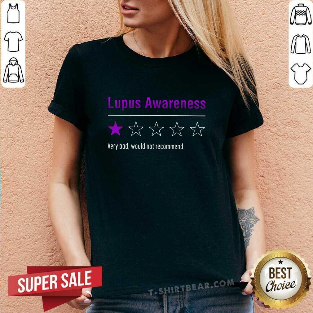 Original Lupus Awareness Very Bad V-neck - Design by T-shirtbear.com