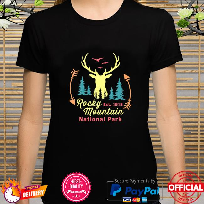 Rocky Mountain National Park Colorado Retro Vintag shirt