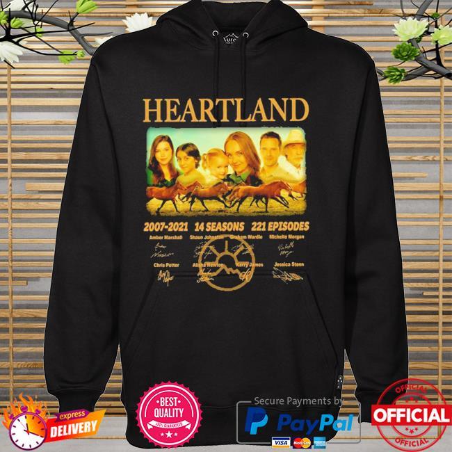 14 years of heartland 2007-2021 14 seasons 221 episodes signed hoodie