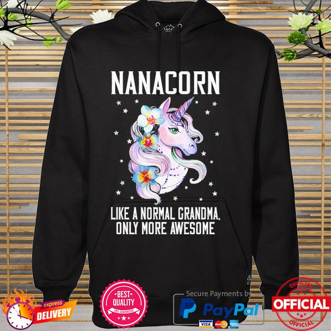 Nanacorn cute unicorn lover mother day gift grandma hoodie