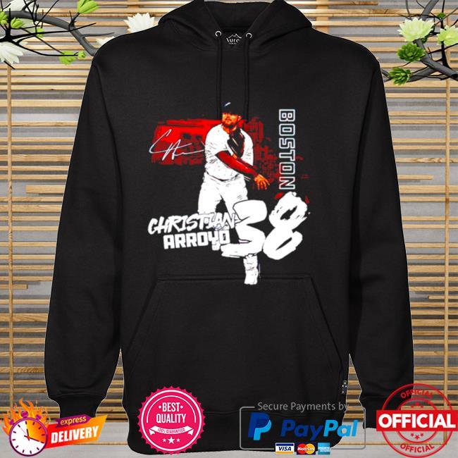 Boston Baseball Christian Arroyo 38 signature hoodie