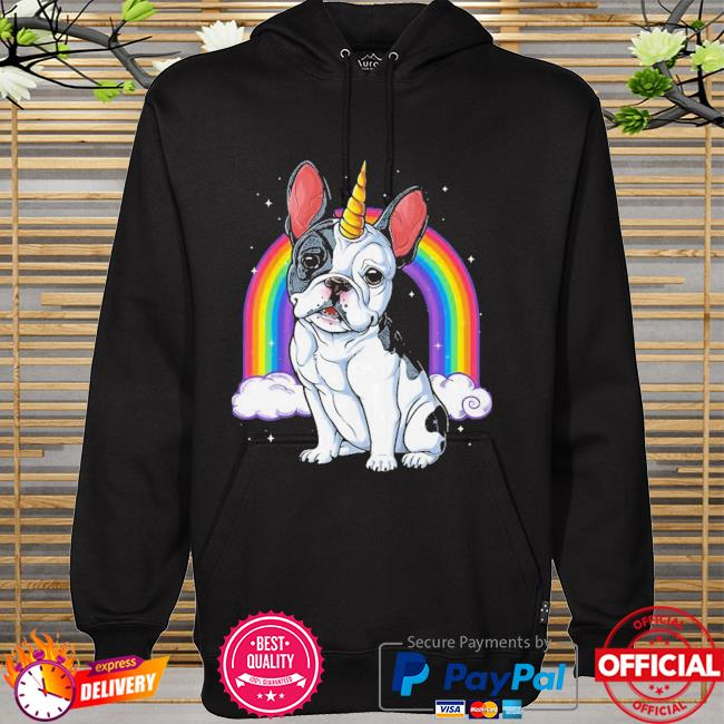 Colorful French Bulldog Unicorn Shirt hoodie