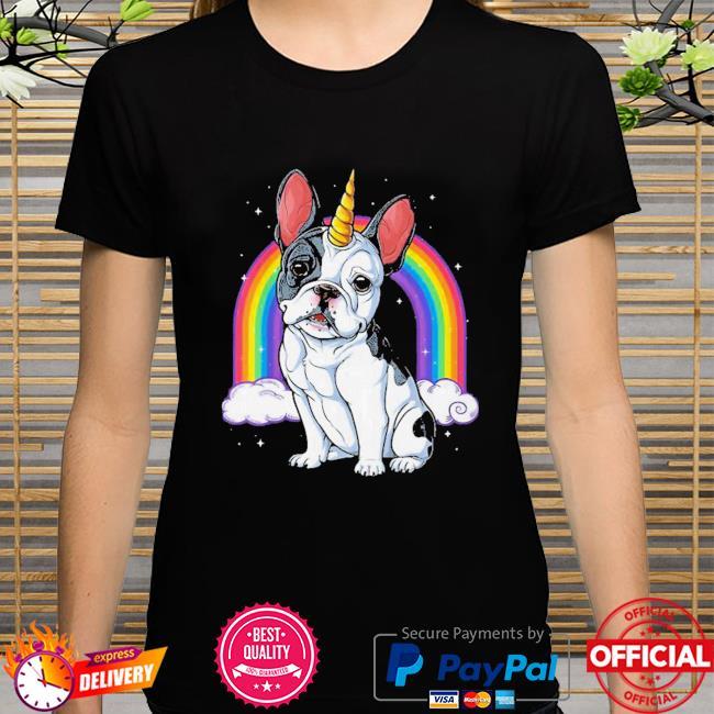 Colorful French Bulldog Unicorn Shirt