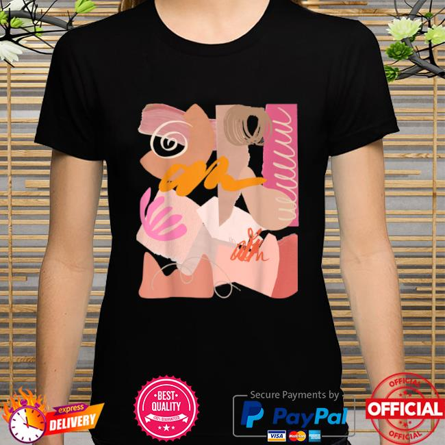 Cool art on a shirt wearable abstract design pastel color shirt
