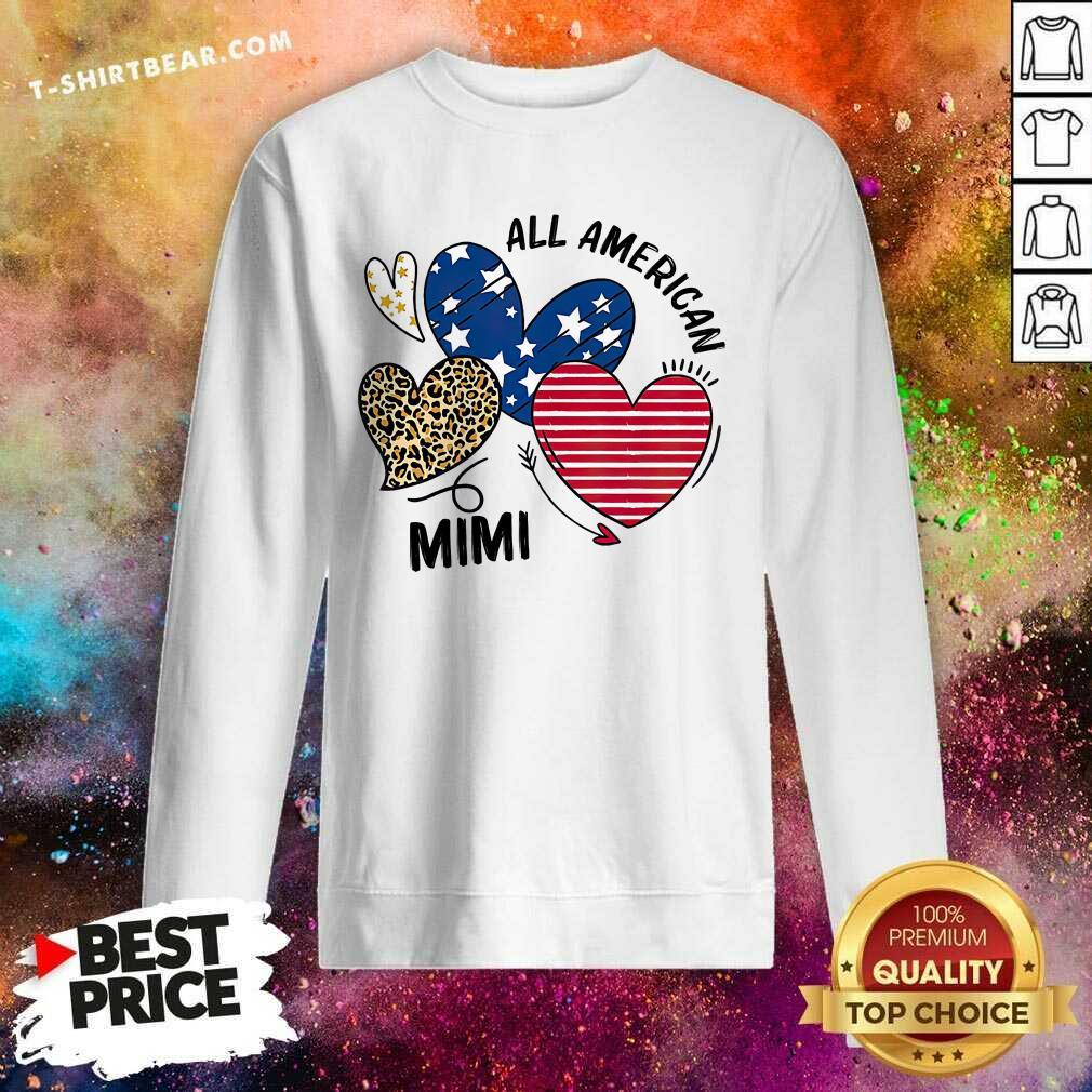 Cool Heart All American Mimi Sweatshirt - Design by T-shirtbear.com