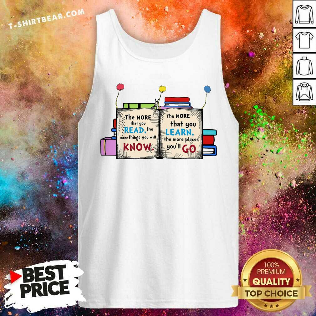 Cool More Read More Know More Learn More Go Tank Top - Design by T-shirtbear.com
