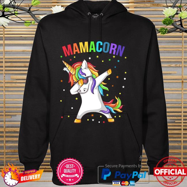 Dabbing unicorn Mamacorn happy mother's day hoodie