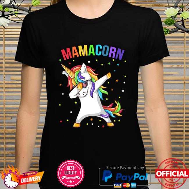 Dabbing unicorn Mamacorn happy mother's day shirt
