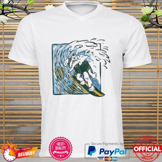 Elephant ride the wave shirt