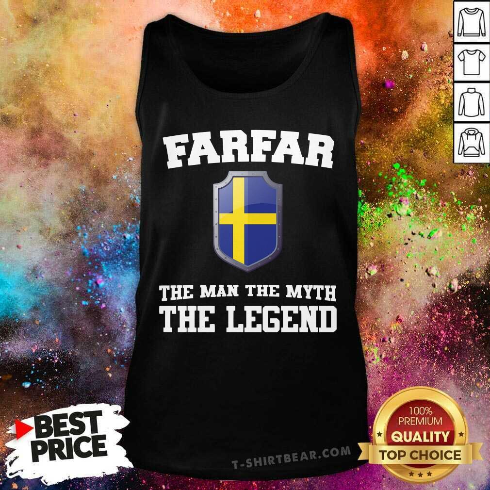 Farfar The Man The Myth The Legend Tank Top - Design by T-shirtbear.com