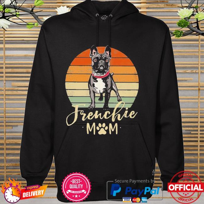 Frenchie Mom Retro Sunset French Bulldog Shirt hoodie