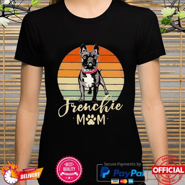 Frenchie Mom Retro Sunset French Bulldog Shirt