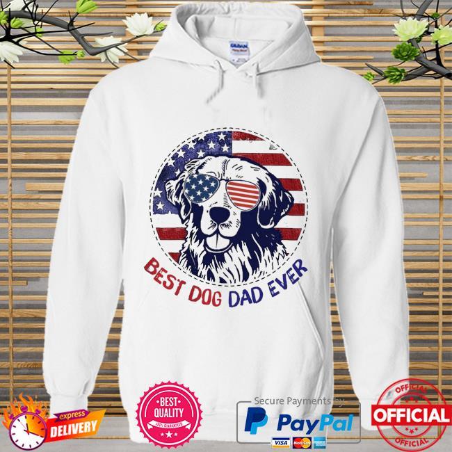 Golden Retriever best dog dad ever American flag Hoodie