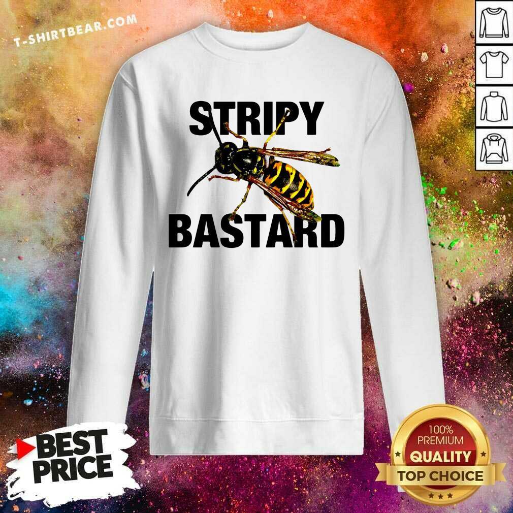 Grateful Stripy Bastard Bee Sweatshirt - Design by T-shirtbear.com