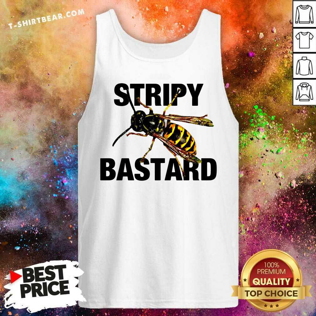 Grateful Stripy Bastard Bee Tank Top - Design by T-shirtbear.com
